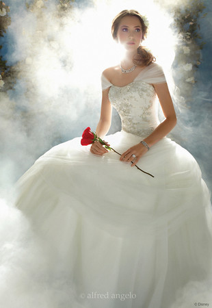 Alfred angelo disney princess wedding dress collection for Belle style wedding dress